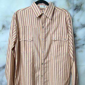 Chic Elegant Men's western wear button down shirt